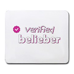 Verified Belieber Large Mousepads by Valentinaart
