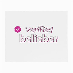 Verified Belieber Small Glasses Cloth by Valentinaart
