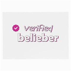 Verified Belieber Large Glasses Cloth by Valentinaart