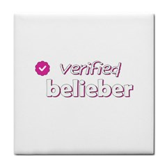 Verified Belieber Face Towel by Valentinaart