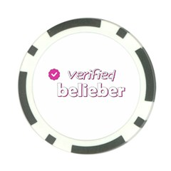 Verified Belieber Poker Chip Card Guard (10 Pack) by Valentinaart