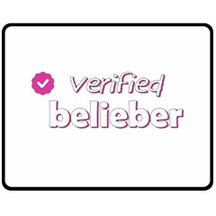 Verified Belieber Fleece Blanket (medium)  by Valentinaart