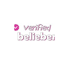 Verified Belieber Shower Curtain 48  X 72  (small)  by Valentinaart