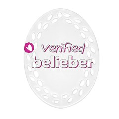 Verified Belieber Oval Filigree Ornament (two Sides) by Valentinaart