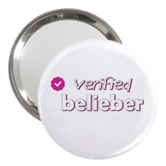 Verified Belieber 3  Handbag Mirrors by Valentinaart
