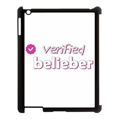 Verified Belieber Apple Ipad 3/4 Case (black) by Valentinaart