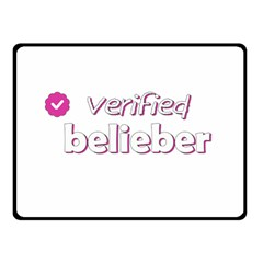 Verified Belieber Double Sided Fleece Blanket (small)  by Valentinaart