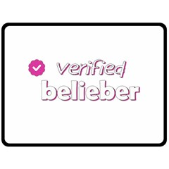 Verified Belieber Double Sided Fleece Blanket (large)  by Valentinaart