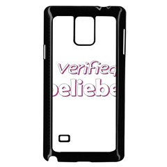 Verified Belieber Samsung Galaxy Note 4 Case (black) by Valentinaart