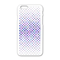 Star Curved Background Geometric Apple Iphone 6/6s White Enamel Case by BangZart