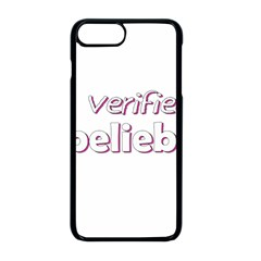 Verified Belieber Apple Iphone 8 Plus Seamless Case (black) by Valentinaart