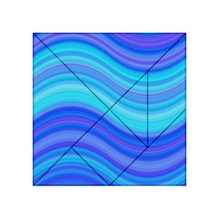 Blue Background Water Design Wave Acrylic Tangram Puzzle (4  X 4 ) by BangZart