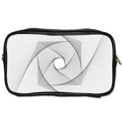 Rotation Rotated Spiral Swirl Toiletries Bags by BangZart