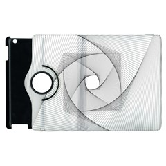 Rotation Rotated Spiral Swirl Apple Ipad 2 Flip 360 Case by BangZart