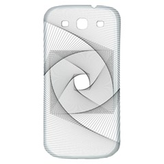 Rotation Rotated Spiral Swirl Samsung Galaxy S3 S Iii Classic Hardshell Back Case by BangZart