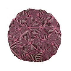 Triangle Background Abstract Standard 15  Premium Round Cushions