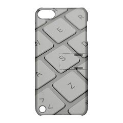 Keyboard Letters Key Print White Apple Ipod Touch 5 Hardshell Case With Stand by BangZart
