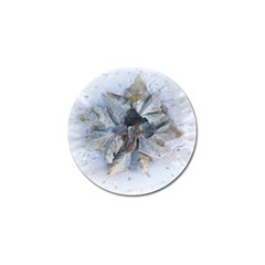Winter Frost Ice Sheet Leaves Golf Ball Marker by BangZart