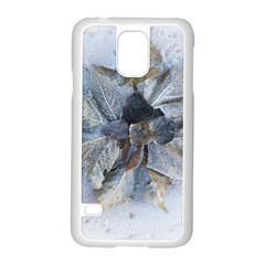 Winter Frost Ice Sheet Leaves Samsung Galaxy S5 Case (white)
