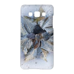 Winter Frost Ice Sheet Leaves Samsung Galaxy A5 Hardshell Case  by BangZart
