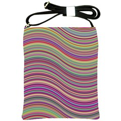 Wave Abstract Happy Background Shoulder Sling Bags by BangZart