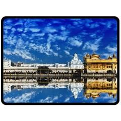 India Punjab Amritsar Sikh Double Sided Fleece Blanket (large)  by BangZart