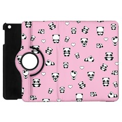 Panda Pattern Apple Ipad Mini Flip 360 Case by Valentinaart