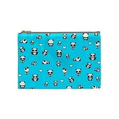 Panda Pattern Cosmetic Bag (medium)  by Valentinaart