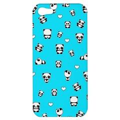 Panda Pattern Apple Iphone 5 Hardshell Case by Valentinaart
