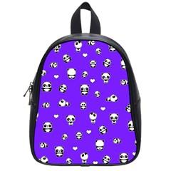 Panda Pattern School Bag (small) by Valentinaart