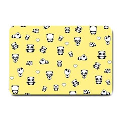Panda Pattern Small Doormat  by Valentinaart