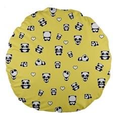 Panda Pattern Large 18  Premium Round Cushions by Valentinaart