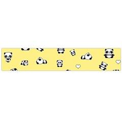 Panda Pattern Large Flano Scarf  by Valentinaart