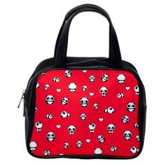 Panda Pattern Classic Handbags (one Side) by Valentinaart