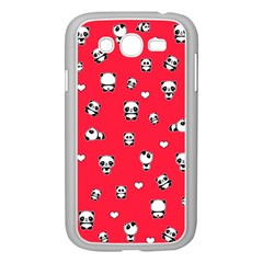 Panda Pattern Samsung Galaxy Grand Duos I9082 Case (white) by Valentinaart