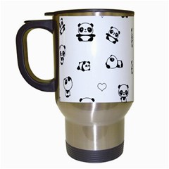 Panda Pattern Travel Mugs (white) by Valentinaart