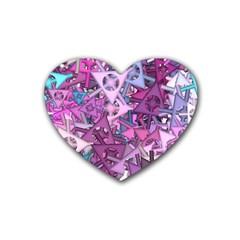 Fun,fantasy And Joy 7 Heart Coaster (4 Pack)  by MoreColorsinLife