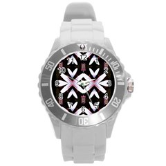 Japan Is A Beautiful Place In Calm Style Round Plastic Sport Watch (l) by pepitasart