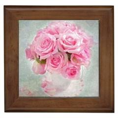 Pink Roses Framed Tiles by 8fugoso