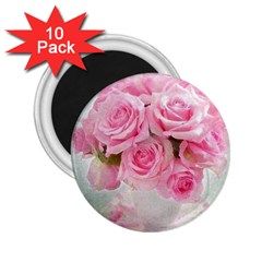 Pink Roses 2 25  Magnets (10 Pack)  by 8fugoso