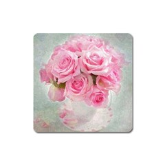Pink Roses Square Magnet by 8fugoso