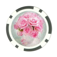 Pink Roses Poker Chip Card Guard (10 Pack) by 8fugoso