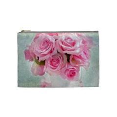 Pink Roses Cosmetic Bag (medium)  by 8fugoso