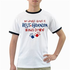 Best Grandpa Hands Down Ringer T Shirts by allthingseveryday
