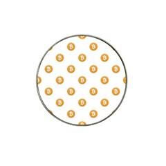 Bitcoin Logo Pattern Hat Clip Ball Marker by dflcprints