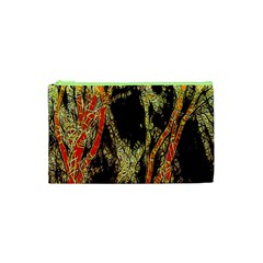 Artistic Effect Fractal Forest Background Cosmetic Bag (xs) by Amaryn4rt
