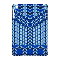Flower Of Life Pattern Blue Apple Ipad Mini Hardshell Case (compatible With Smart Cover) by Cveti