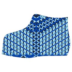 Flower Of Life Pattern Blue Women s Mid Top Canvas Sneakers