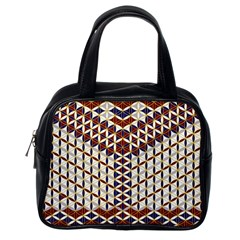Flower Of Life Pattern Red Blue Classic Handbags (one Side)