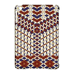 Flower Of Life Pattern Red Blue Apple Ipad Mini Hardshell Case (compatible With Smart Cover) by Cveti